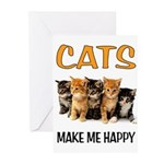 HAPPY CATS Greeting Cards