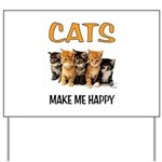 HAPPY CATS Yard Sign