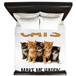 HAPPY CATS King Duvet