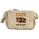 HAPPY CATS Messenger Bag