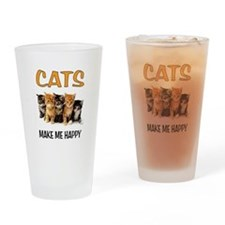 HAPPY CATS Drinking Glass