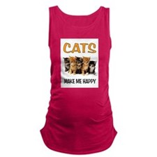 HAPPY CATS Maternity Tank Top