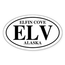 Elfin Cove Oval Decal