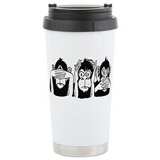 No Evil Ceramic Travel Mug