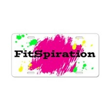 FitSpiration Aluminum License Plate