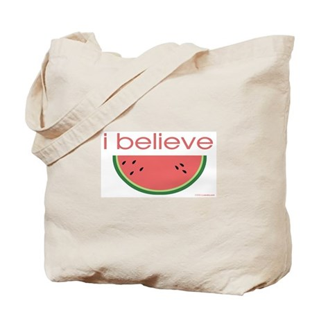 I believe in Watermelon Tote Bag