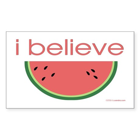 I believe in Watermelon Rectangle Sticker