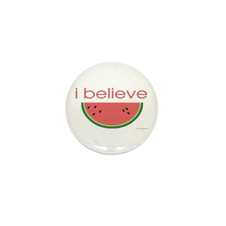 I believe in Watermelon Mini Button (100 pack)