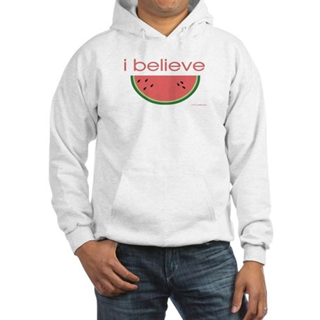 I believe in Watermelon Hooded Sweatshirt