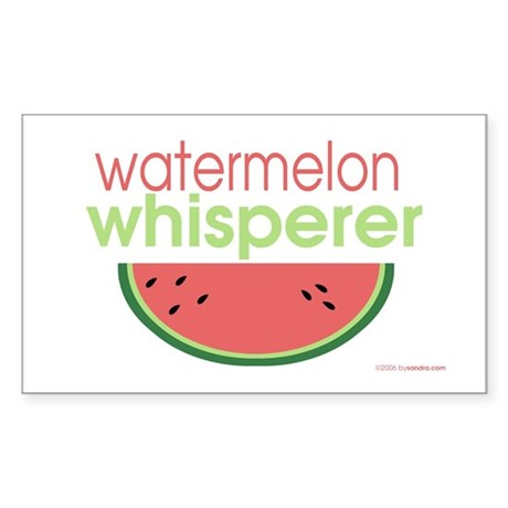 watermelon whisperer Rectangle Sticker