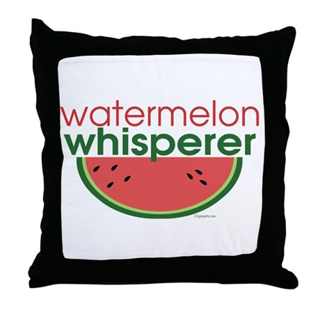 watermelon whisperer Throw Pillow