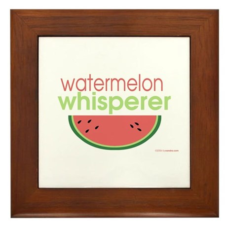watermelon whisperer Framed Tile