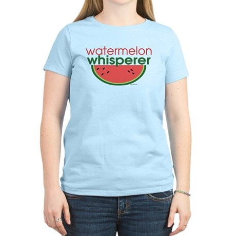 watermelon whisperer Women's Pink T-Shirt