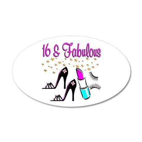 CELEBRATE 16 20x12 Oval Wall Decal