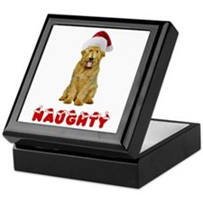 Naughty Goldendoodle Keepsake Box