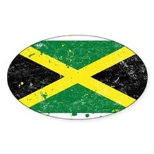 Jamaican Flag (Punk) Oval Decal