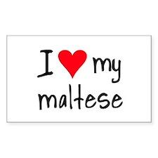 I LOVE MY Maltese Decal