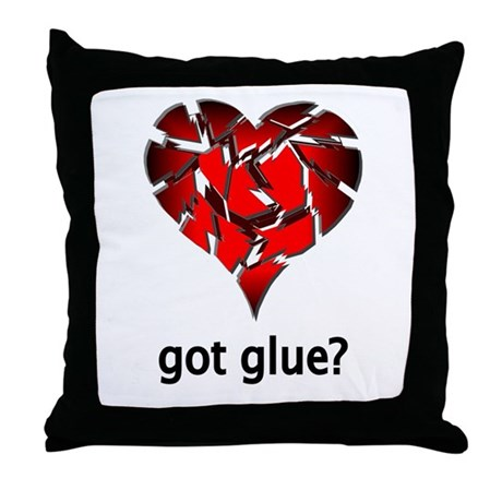 Got Glue? Throw Pillow