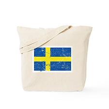 Swedish Flag (Punk) Tote Bag