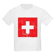 Swiss Flag (Punk) Kids T-Shirt