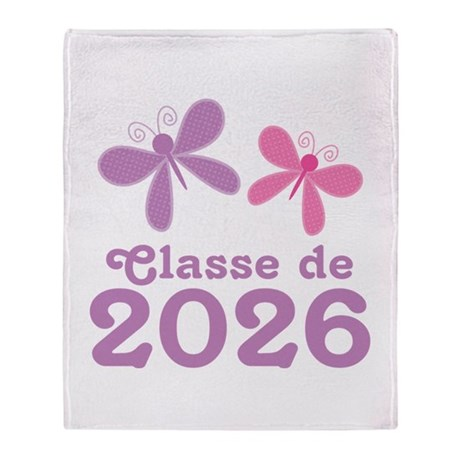 Classe de 2026 Graduation Throw Blanket