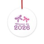 Classe de 2026 Graduation Ornament (Round)