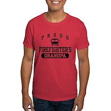 Proud Firefighter's Grandpa T-Shirt