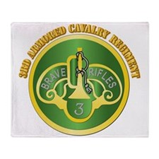DUI - 3rd Cavalry Rgt with Text Throw Blanket