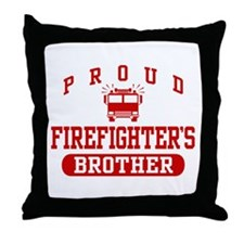 Proud Firefighter's Brother Throw Pillow