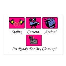 Lights,Camera,Action! Postcards (Package of 8)