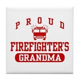 Proud Firefighter's Grandma Tile Coaster