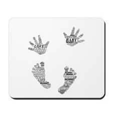 Baby Hands and Feet Leslie Harlow Mousepad