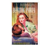 Postcards (pkg. 8) - 'Beatnik Party'