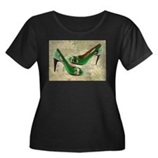 Green with Envy Pumps copy Plus Size T-Shirt