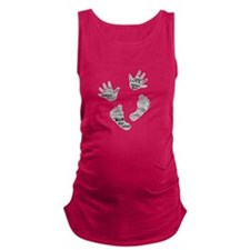Baby Hands and Feet with Words 4 Maternity Tank To