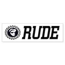 Rude Emblem Bumper Bumper Sticker