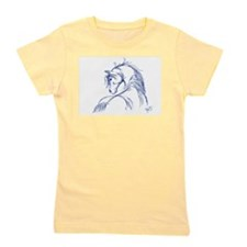 Artsy Horse Head Girl's Tee