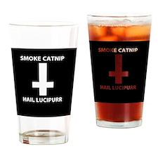Smoke Catnip Hail Lucipurr Drinking Glass