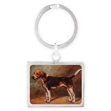 English Foxhound Landscape Keychain