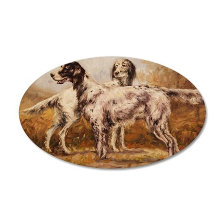 English Setters 35x21 Oval Wall Decal