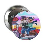 Bulldog and Frenchie Biker Button