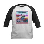 Bulldog and Frenchie Biker Kids Baseball Jersey
