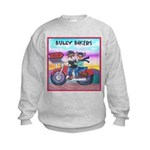 Bulldog and Frenchie Biker Kids Sweatshirt