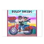 Bulldog and Frenchie Biker Postcards (Package of 8