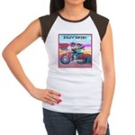 Bulldog and Frenchie Biker Women's Cap Sleeve T-Sh
