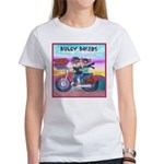 Bulldog and Frenchie Biker Women's T-Shirt