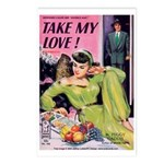 Postcards (pkg. 8) - 'Take My Love!'