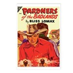 Postcards (pkg. 8)-'Pardners of Badlands