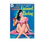 Postcards (pkg. 8) - 'Untamed Darling'