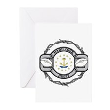 Rhode Island Rugby Greeting Cards (Pk of 10)